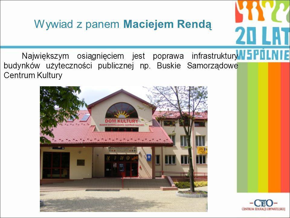Wywiad z panem Maciejem Rendą