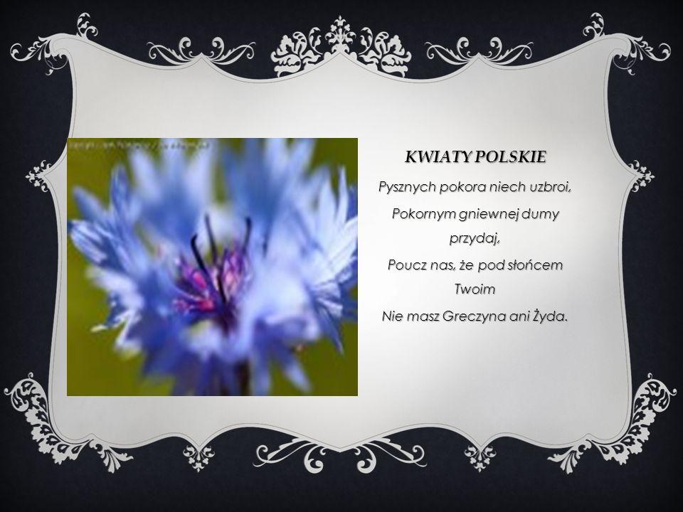 Kwiaty polskie Pysznych pokora niech uzbroi,