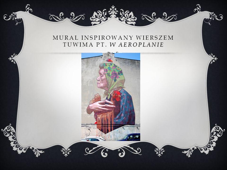 Mural inspirowany wierszem Tuwima pt. w aeroplanie