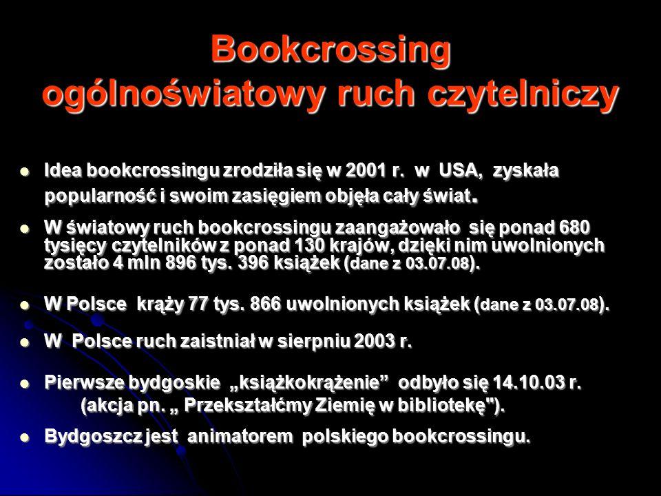 Bookcrossing ogólnoświatowy ruch czytelniczy