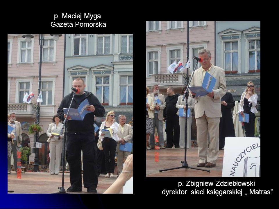 """p. Zbigniew Zdziebłowski dyrektor sieci księgarskiej """" Matras"""