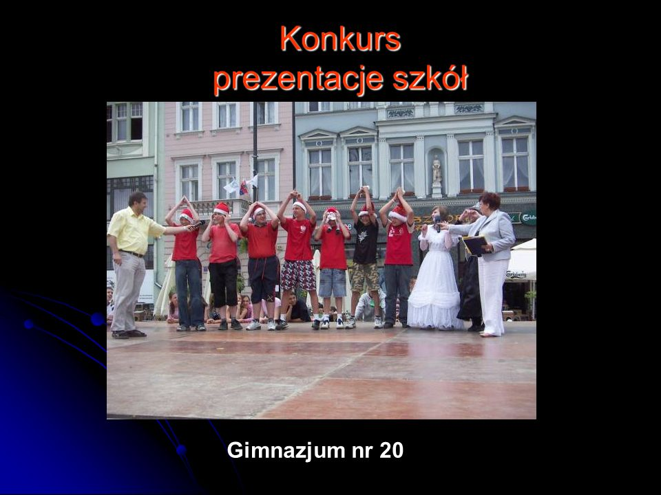 Konkurs prezentacje szkół Gimnazjum nr 20