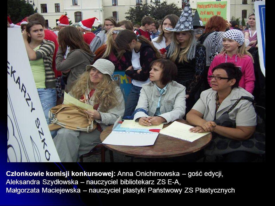 Członkowie komisji konkursowej: Anna Onichimowska – gość edycji,