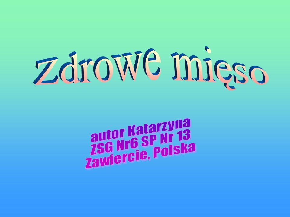 Zdrowe mięso autor Katarzyna ZSG Nr6 SP Nr 13 Zawiercie, Polska