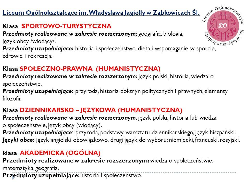 Liceum Ogólnokształcące im. Władysława Jagiełły w Ząbkowicach Śl.