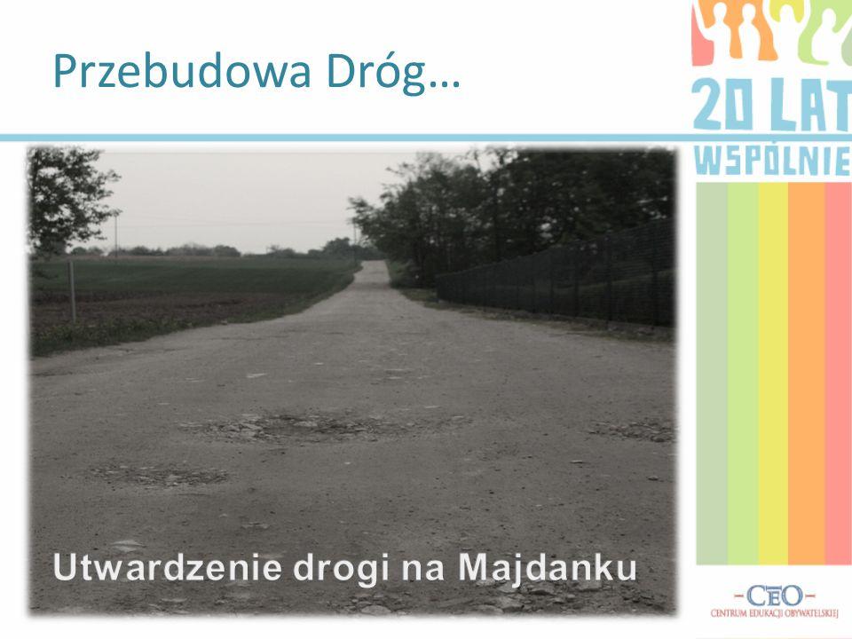 Utwardzenie drogi na Majdanku