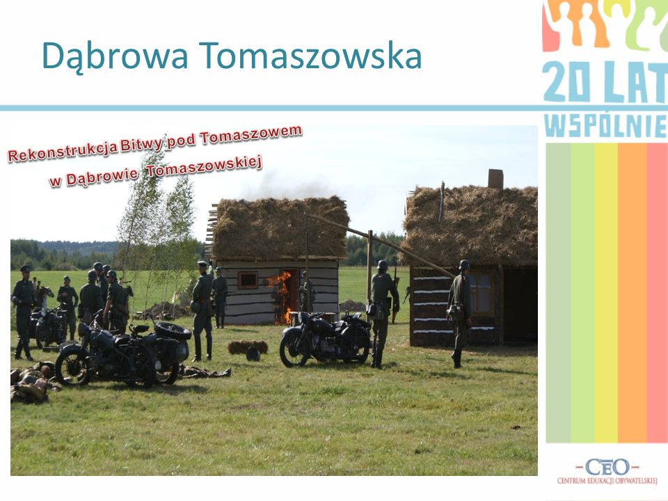 Rekonstrukcja Bitwy pod Tomaszowem w Dąbrowie Tomaszowskiej