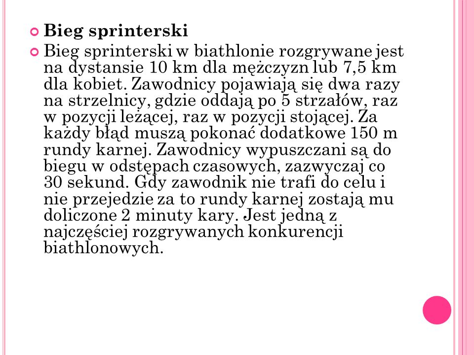 Bieg sprinterski