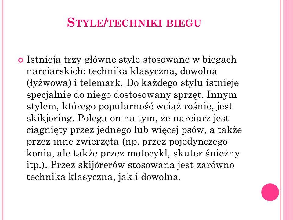 Style/techniki biegu