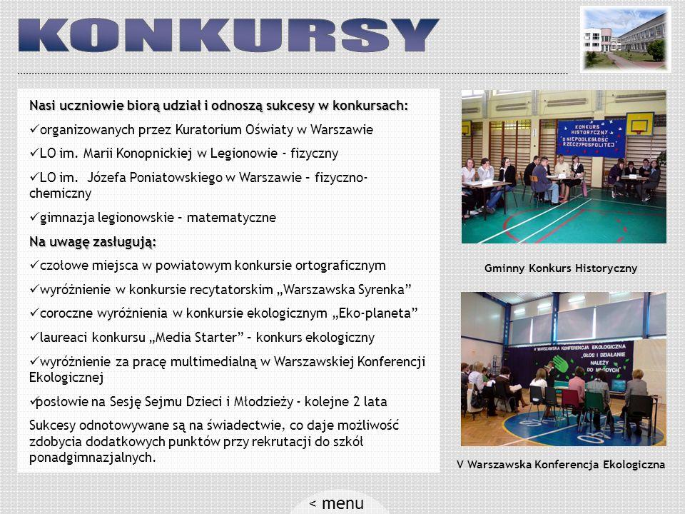 Gminny Konkurs Historyczny V Warszawska Konferencja Ekologiczna