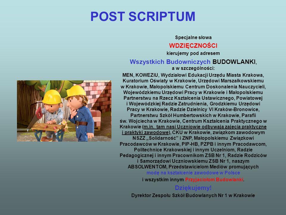 POST SCRIPTUM WDZIĘCZNOŚCI