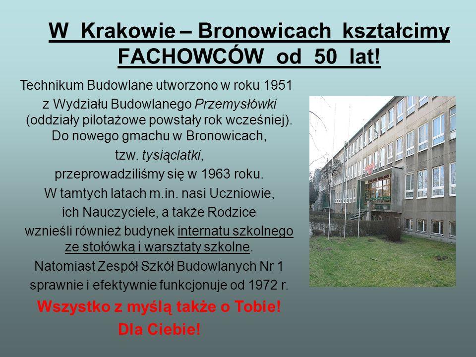 W Krakowie – Bronowicach kształcimy FACHOWCÓW od 50 lat!