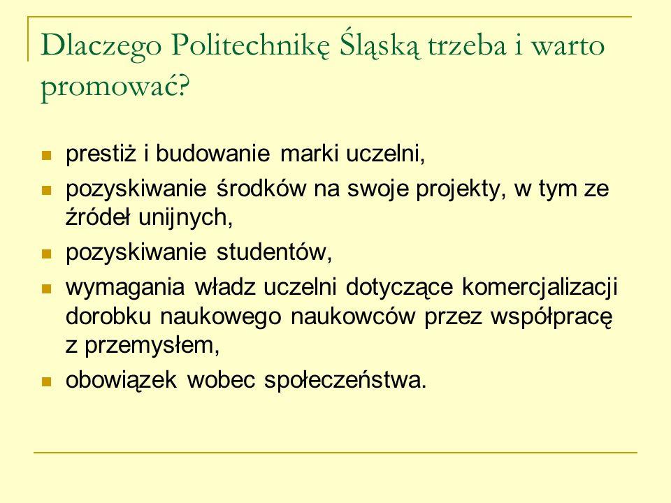 Dlaczego Politechnikę Śląską trzeba i warto promować