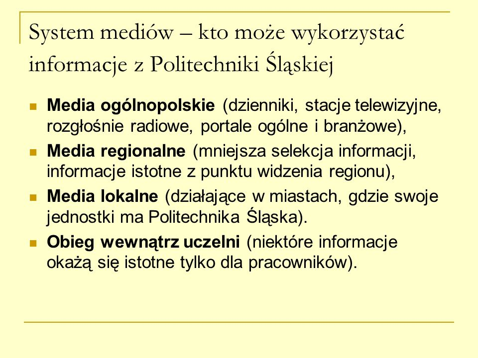 System mediów – kto może wykorzystać informacje z Politechniki Śląskiej