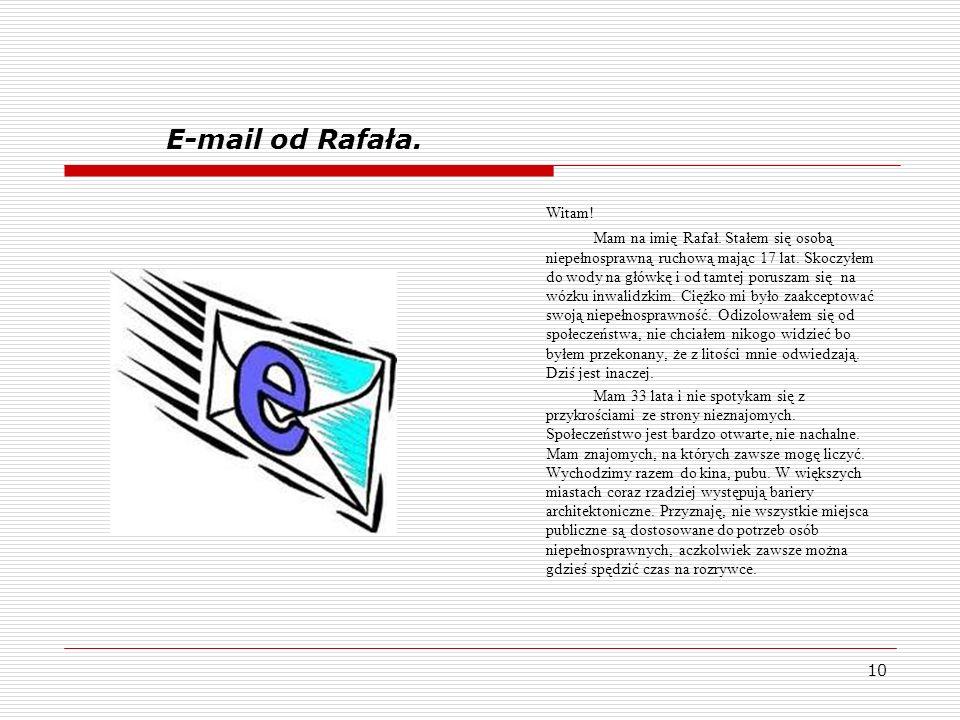 E-mail od Rafała. Witam!