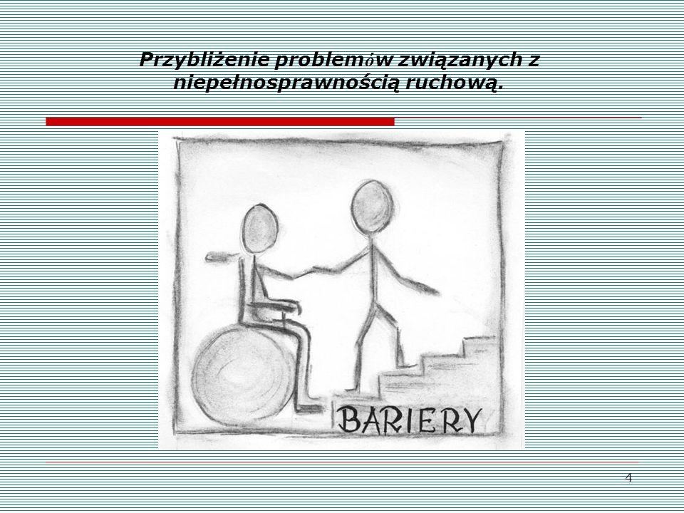 Przybliżenie problemów związanych z niepełnosprawnością ruchową.