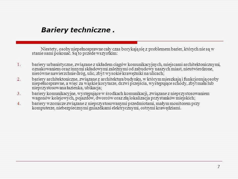 Bariery techniczne .
