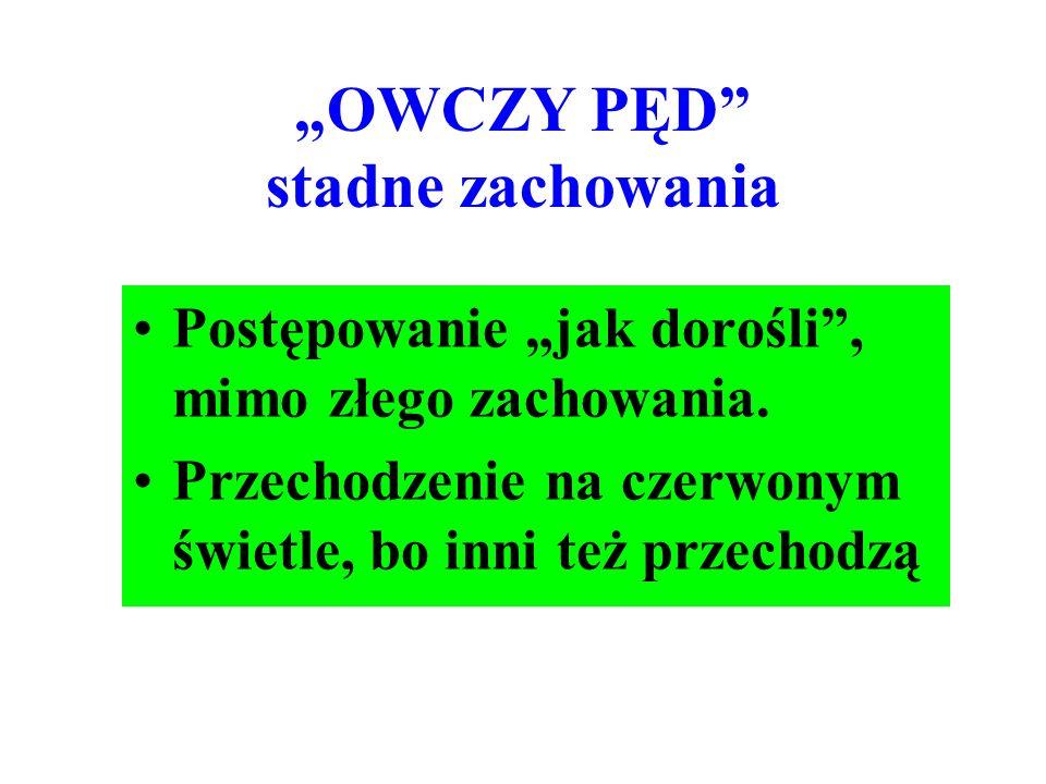 """""""OWCZY PĘD stadne zachowania"""