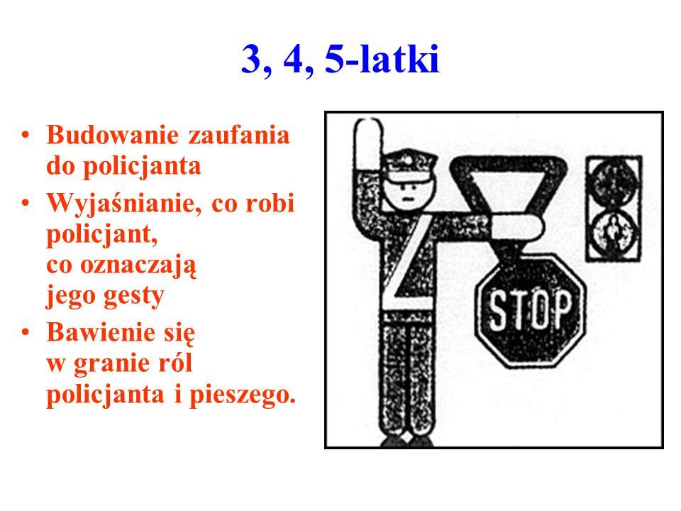 3, 4, 5-latki Budowanie zaufania do policjanta