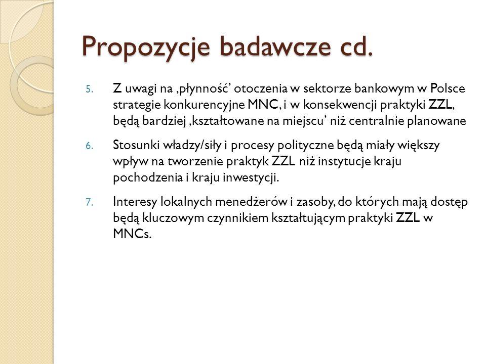 Propozycje badawcze cd.