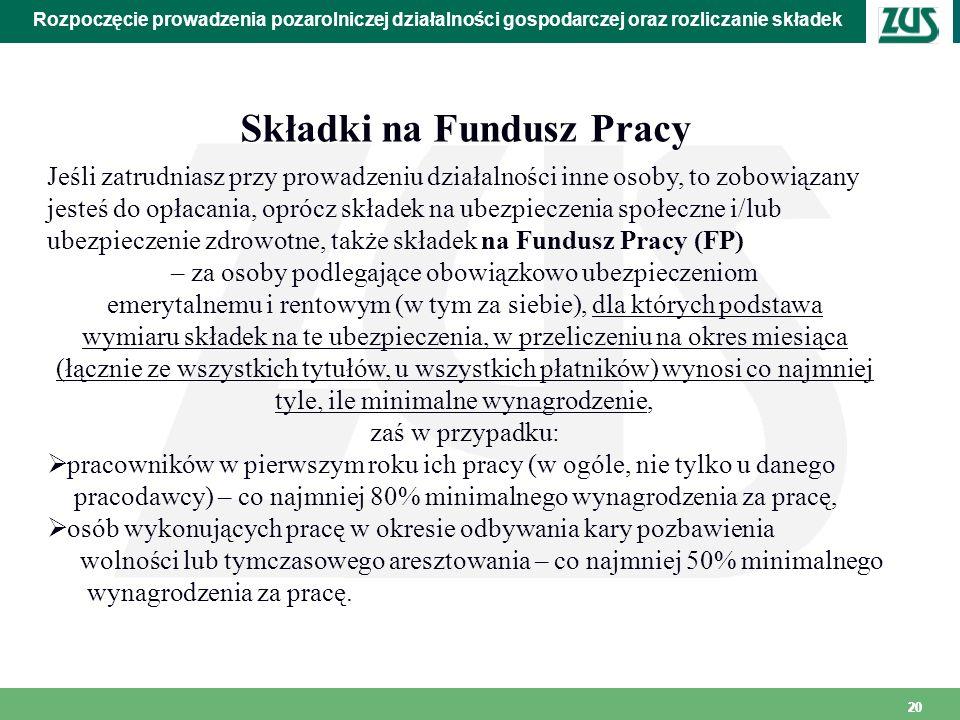 Składki na Fundusz Pracy