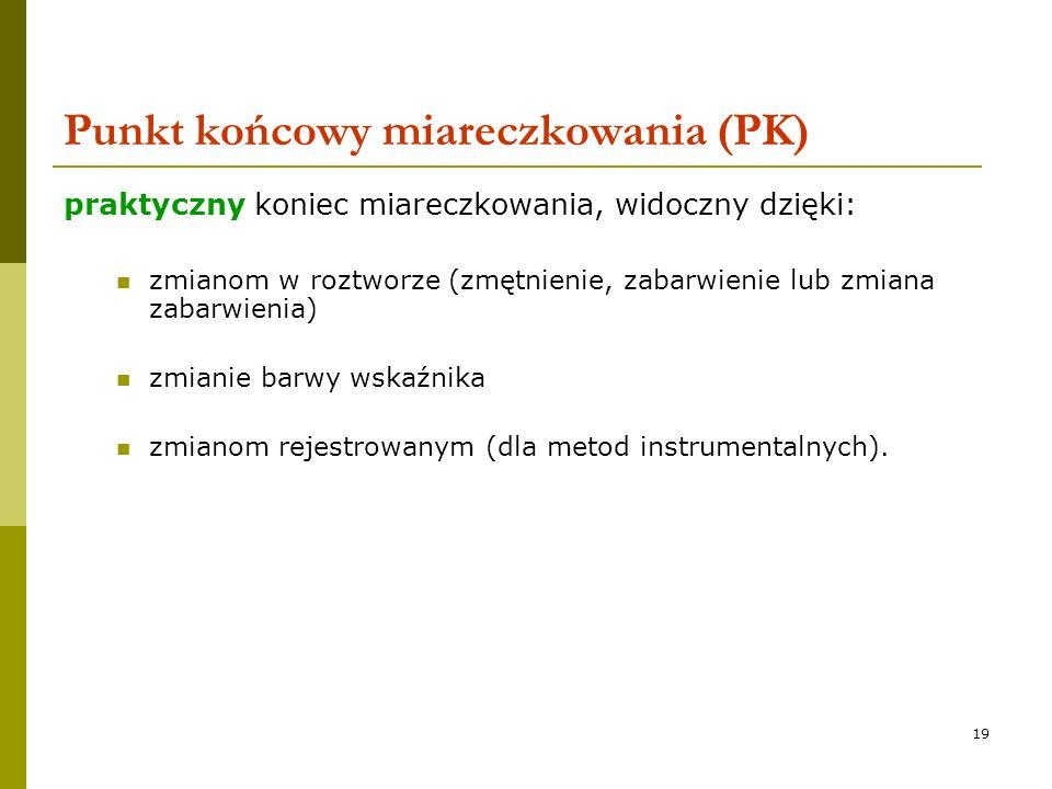 Punkt końcowy miareczkowania (PK)