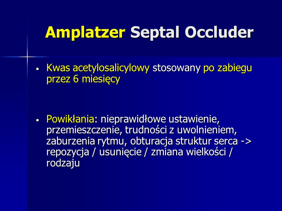 Amplatzer Septal Occluder
