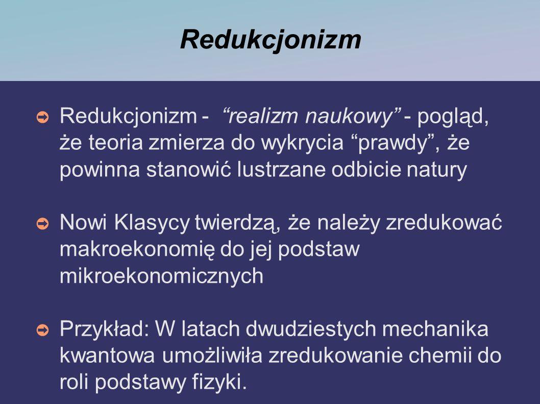 Redukcjonizm Redukcjonizm - realizm naukowy - pogląd, że teoria zmierza do wykrycia prawdy , że powinna stanowić lustrzane odbicie natury.