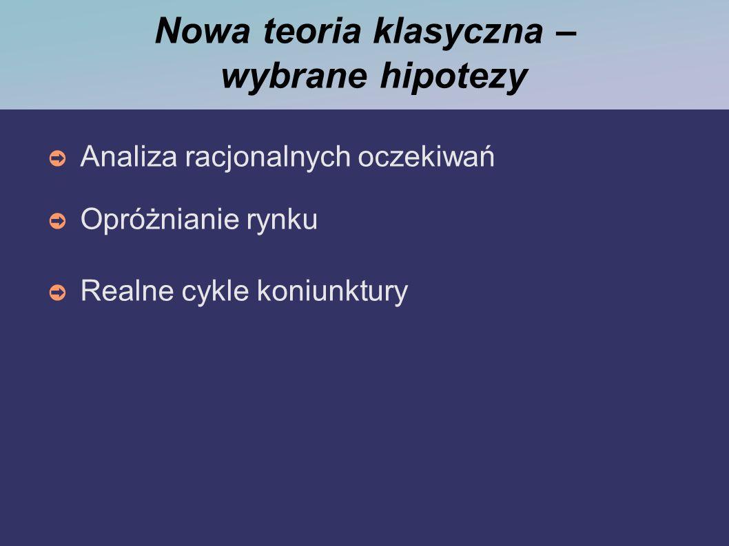 Nowa teoria klasyczna – wybrane hipotezy