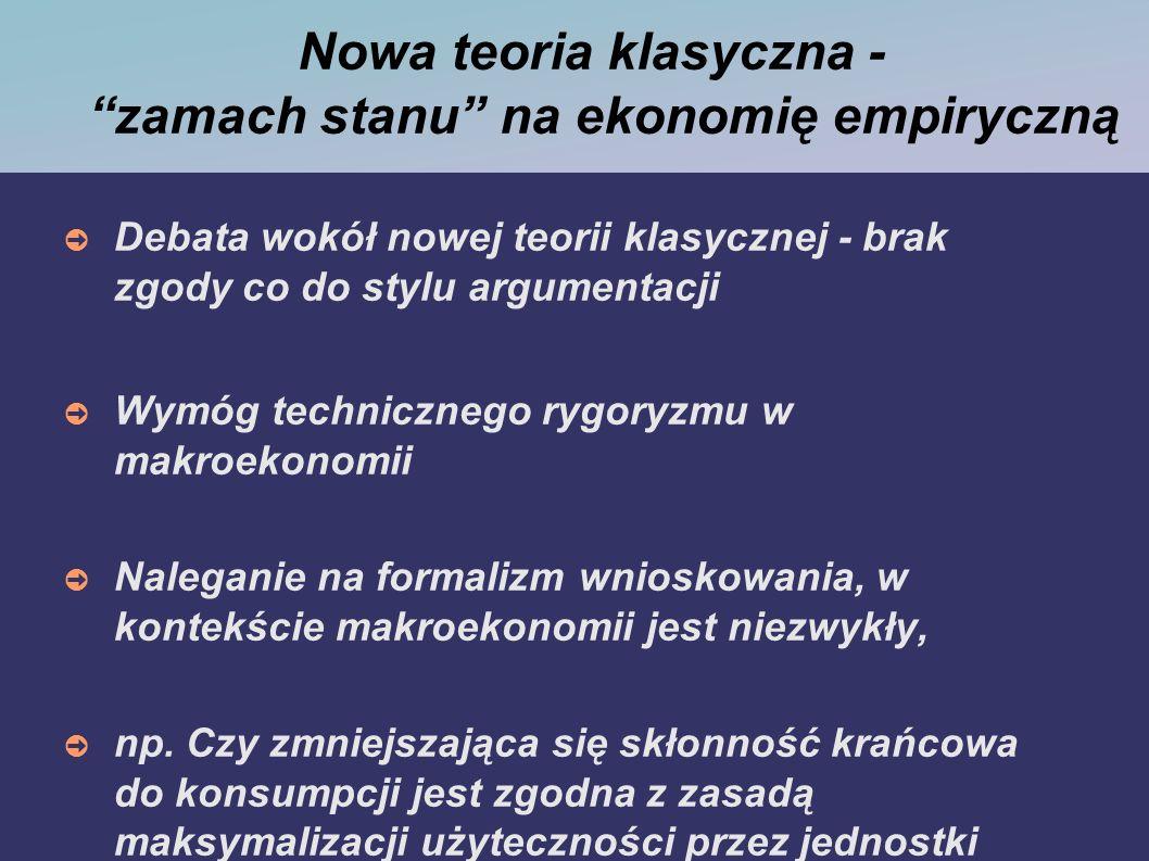 Nowa teoria klasyczna - zamach stanu na ekonomię empiryczną