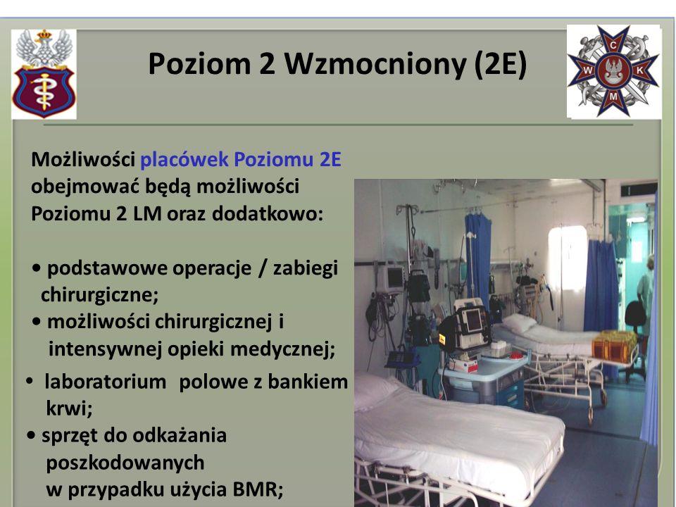 Poziom 2 Wzmocniony (2E) Możliwości placówek Poziomu 2E obejmować będą możliwości Poziomu 2 LM oraz dodatkowo: