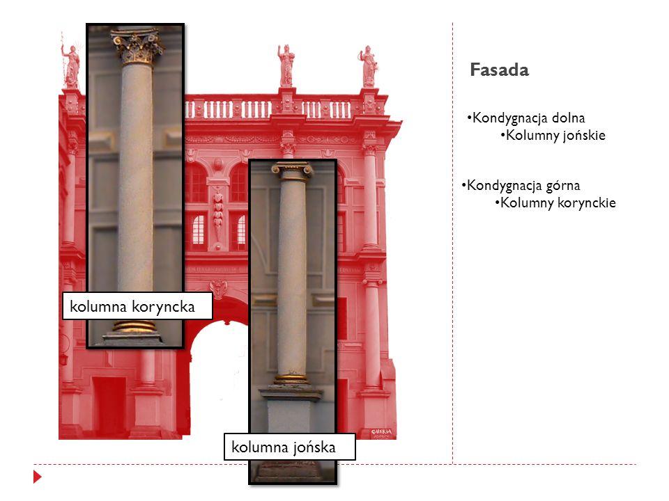 Fasada kolumna koryncka kolumna jońska Kondygnacja dolna