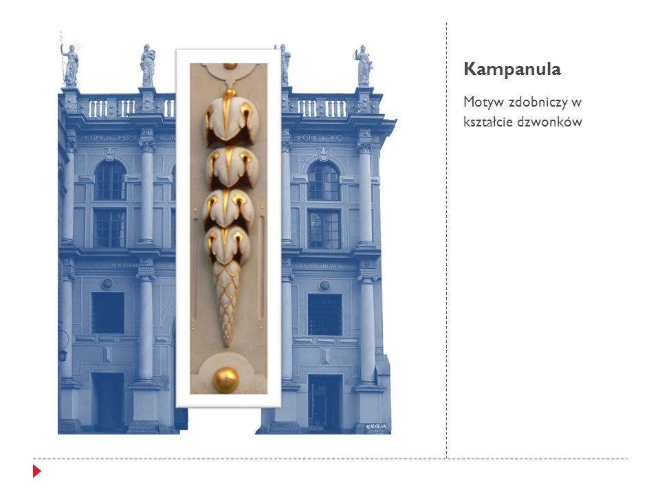 Kampanula Motyw zdobniczy w kształcie dzwonków
