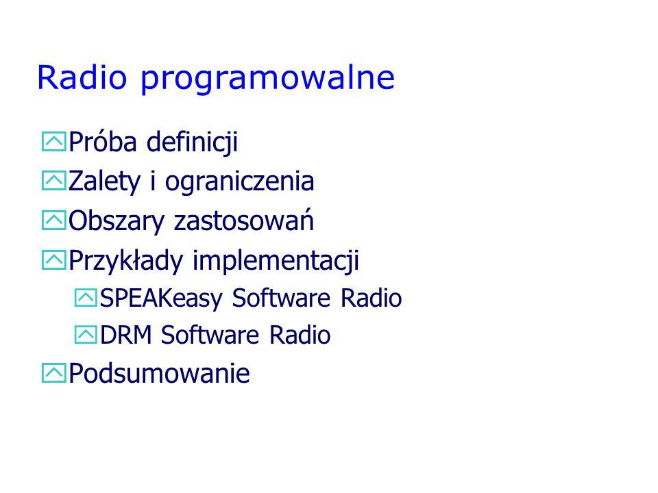 Radio programowalne Próba definicji Zalety i ograniczenia