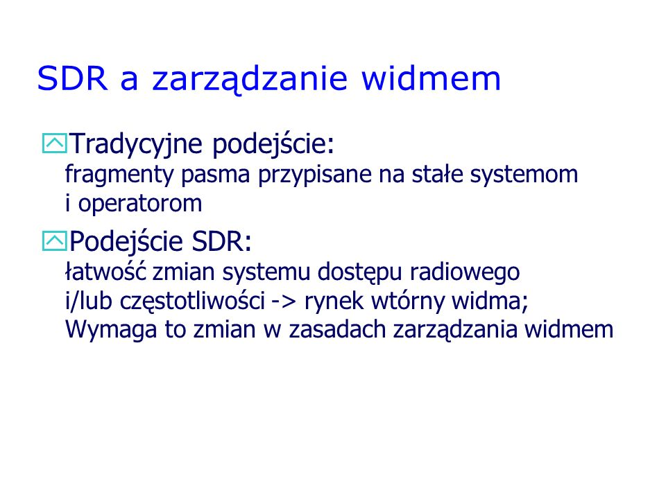 SDR a zarządzanie widmem