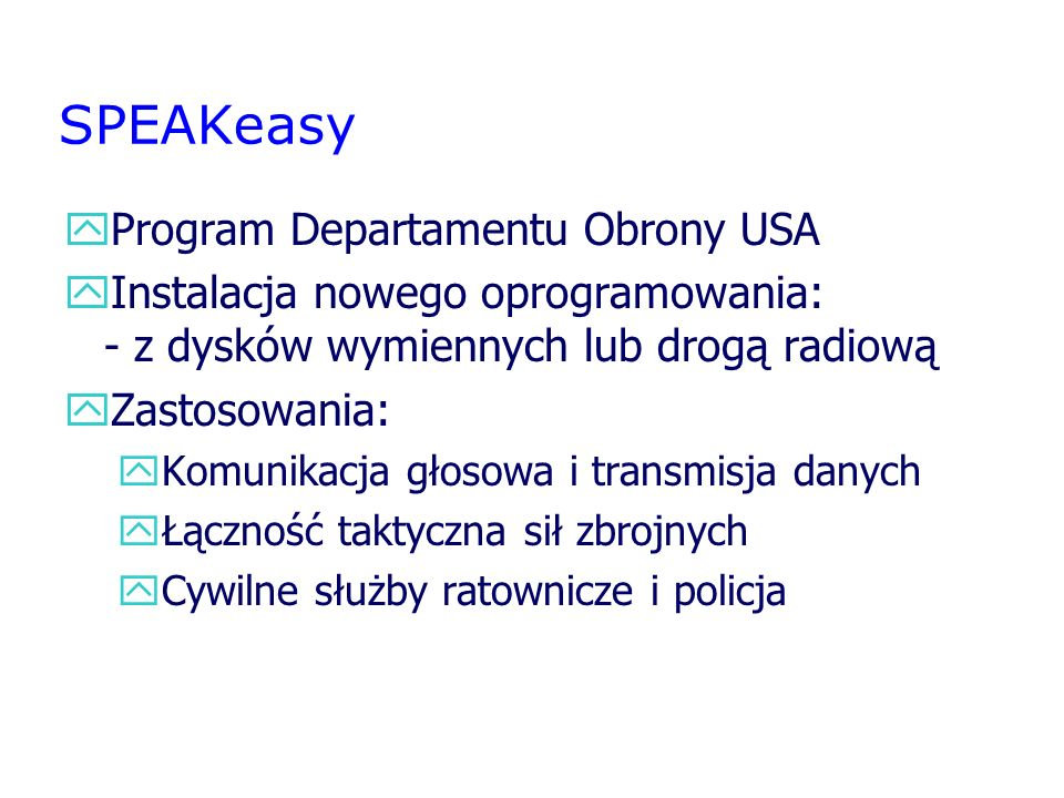 SPEAKeasy Program Departamentu Obrony USA
