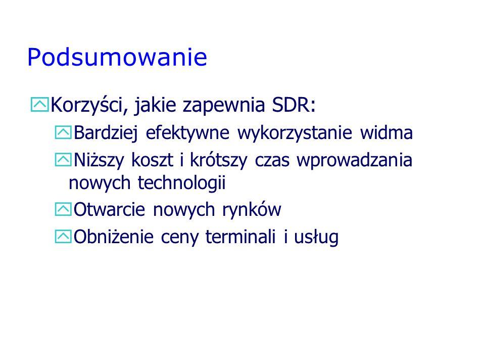 Podsumowanie Korzyści, jakie zapewnia SDR: