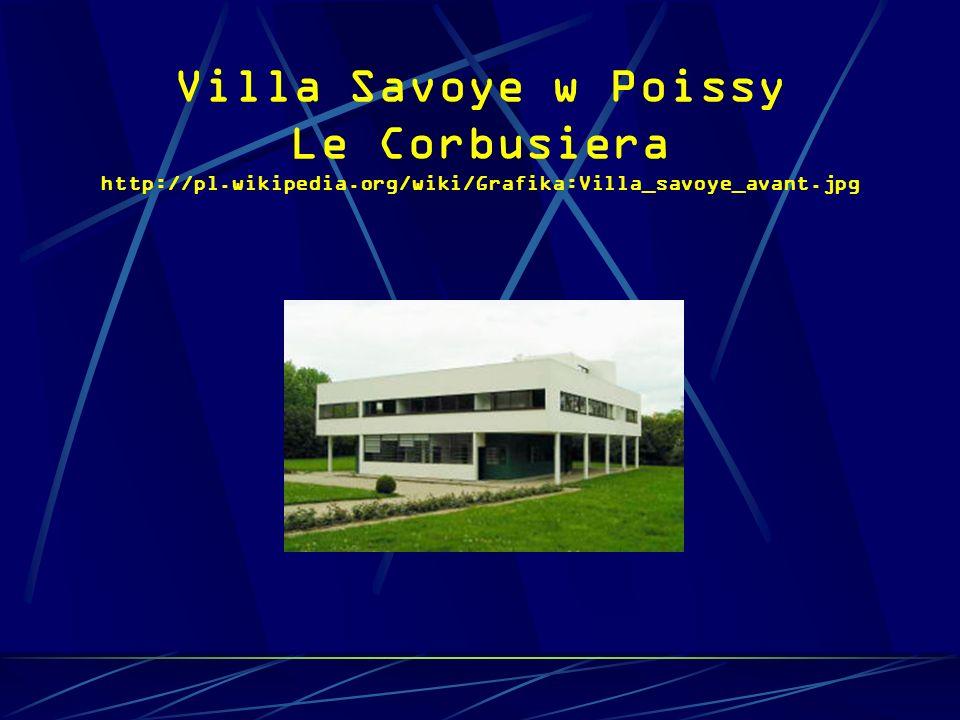 Villa Savoye w Poissy Le Corbusiera http://pl. wikipedia