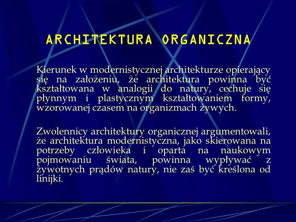 ARCHITEKTURA ORGANICZNA