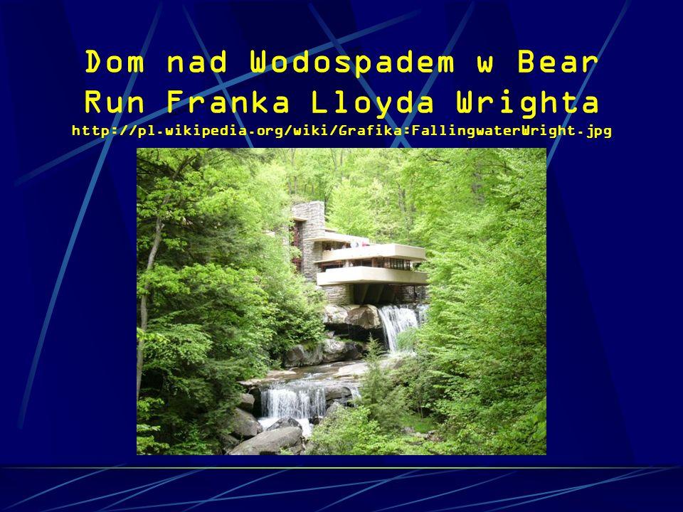 Dom nad Wodospadem w Bear Run Franka Lloyda Wrighta http://pl