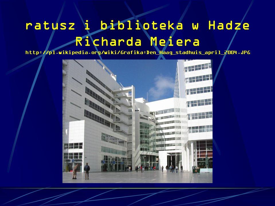 ratusz i biblioteka w Hadze Richarda Meiera http://pl. wikipedia