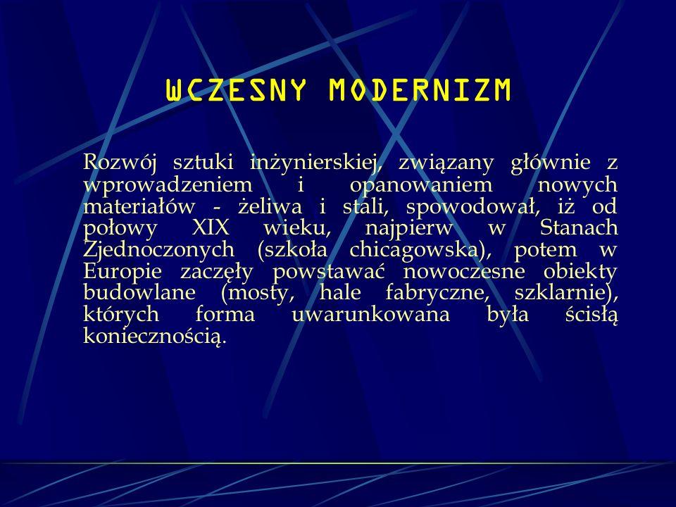 WCZESNY MODERNIZM