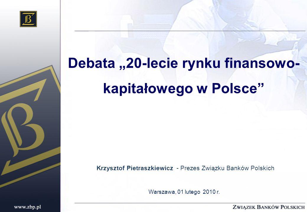 """Debata """"20-lecie rynku finansowo-kapitałowego w Polsce"""