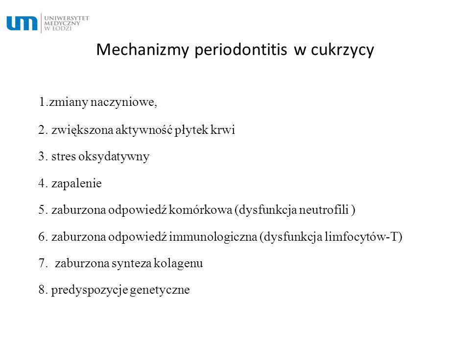Mechanizmy periodontitis w cukrzycy