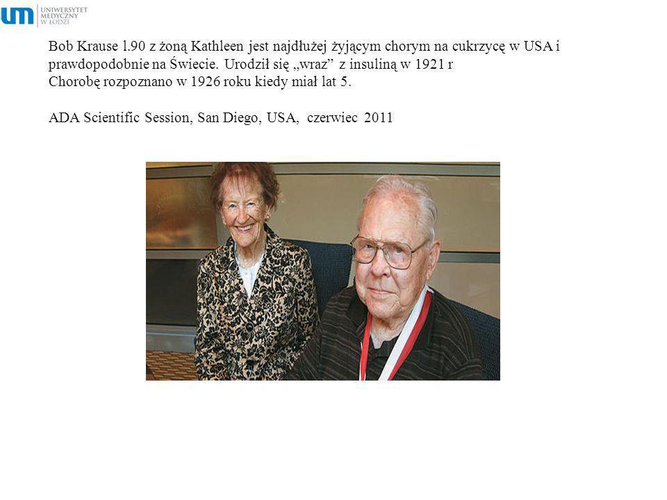 Bob Krause l.90 z żoną Kathleen jest najdłużej żyjącym chorym na cukrzycę w USA i prawdopodobnie na Świecie.