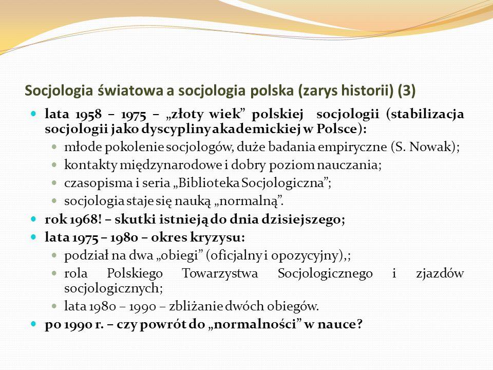 Socjologia światowa a socjologia polska (zarys historii) (3)