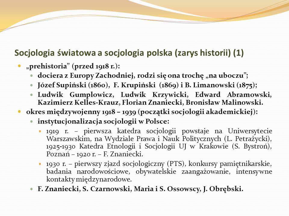Socjologia światowa a socjologia polska (zarys historii) (1)