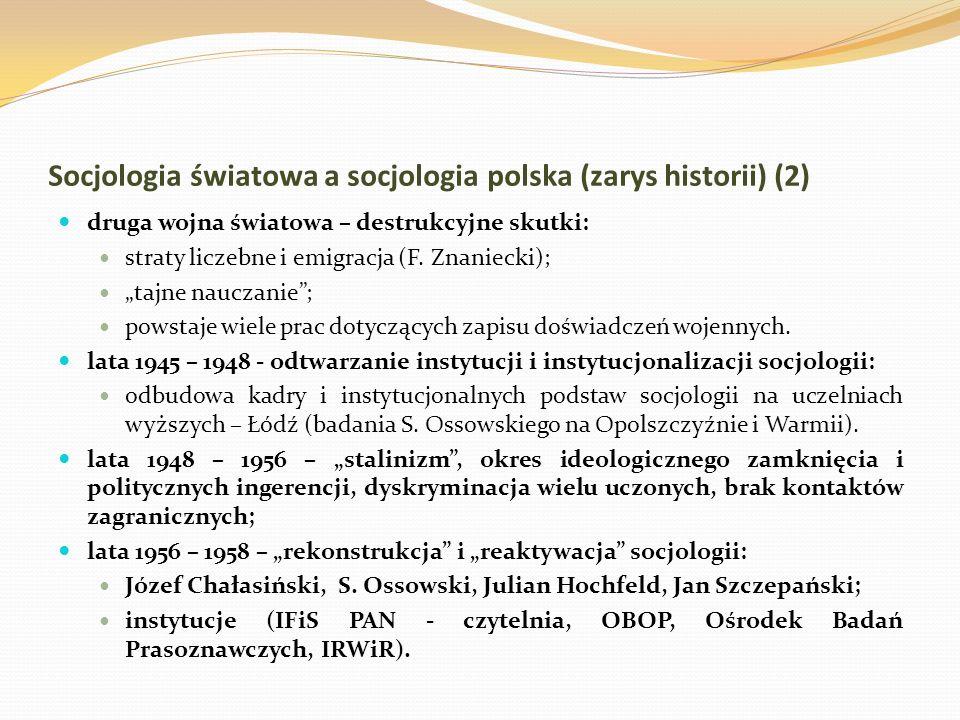 Socjologia światowa a socjologia polska (zarys historii) (2)