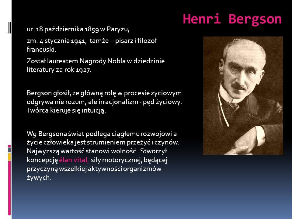 Henri Bergson ur. 18 października 1859 w Paryżu,