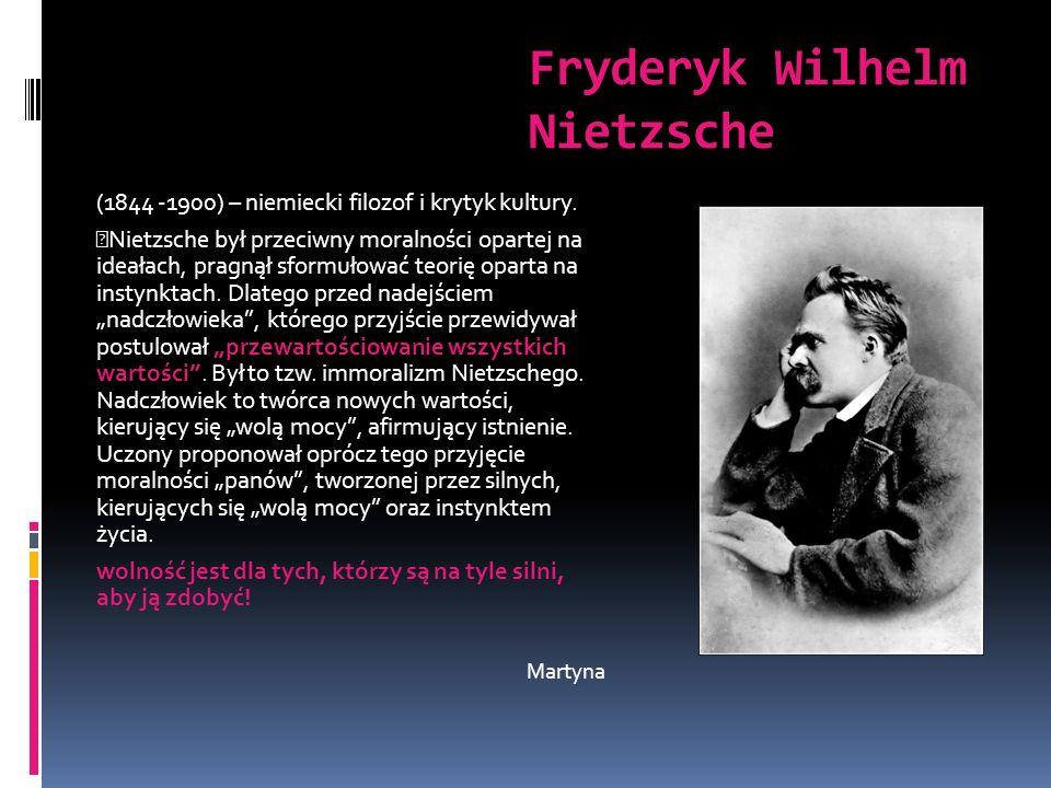 Fryderyk Wilhelm Nietzsche